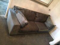 Grey Barker & Stonehouse sofa
