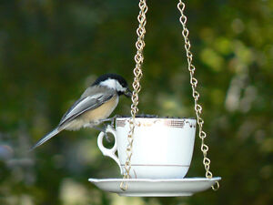 Teacup Bird Feeders ~ Hand Crafted ~ Lovely Christmas Gifts