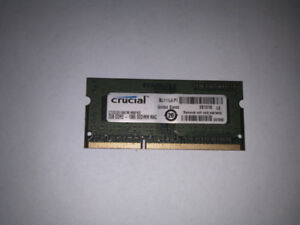 Mac Crucial DDR3 2GB Laptop Ram 1066 204 pin