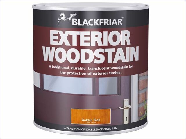 Blackfriar - Traditional Exterior Woodstain Ebony 1 Litre