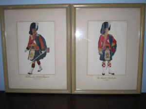 Eight Framed Canadian Scottish Regiment Prints