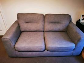 X2 DFS sofas grey