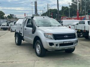 2012 Ford Ranger PX XL 2.2 Hi-Rider (4x2) Silver 6 Speed Manual Cab Chassis Clyde Parramatta Area Preview