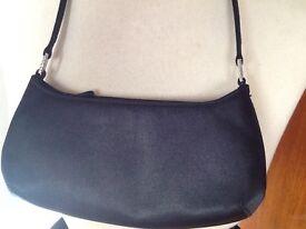 M&S little black satin bag NEW