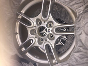 BMW wheels and snow tires style 66 M rims Strathcona County Edmonton Area image 2