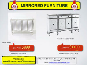 MIRRORED FURNITURE ON SALE IN TORONTO! BEST SELECTION & PRICES!
