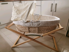 Brand new Mothercare baby's moses basket