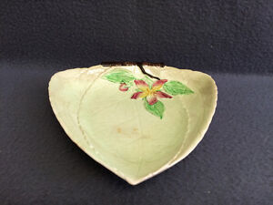 Collectible Antique Carlton Ware Leaf Candy Dish