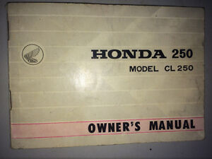 1968 Honda CL250 Owners Manual