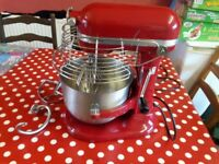 KitchenAid Red Industrial Commercial Heavy Duty Mixer