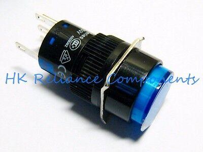 Button Push Switch Latch Onoff Dc24v 1a Ac220v 3a Led 12v Blue Vde