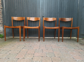 4 Danish Bramin Rosewood Dining Chairs Vintage Retro Mid Century