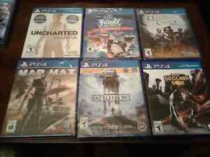 15 ps4 games and 1 xbox one game