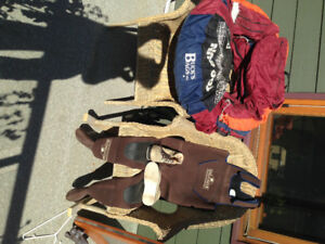 Fly fishing equipment- waders, Felt bottom boots,bellyboat
