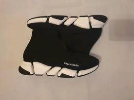 Balenciaga trainer size 9 Black Speed 2.0 Sock Sneakers Unisex Men