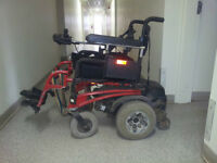 Red Quickie P-222 power wheelchair