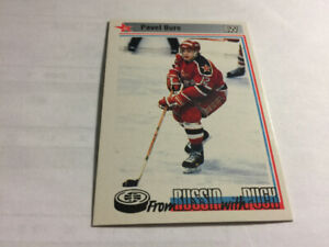 1992-93 Tri-Globe From Russia with Puck#5 Pavel Bure Hockey Card
