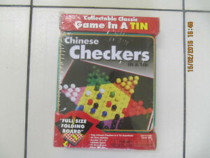 CollectibleClassicGame In a Tin Chinese Checkers New Sealed 1999