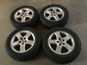4 tires and aluminum rims for Toyota