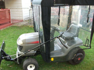 YT 2000 Craftsman lawn tractor with plow and enclosure