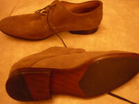 Aldo shoes for men suede beige taupe color all leather