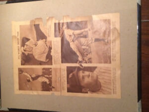 Old baseball newspaper clipping joe Demagio