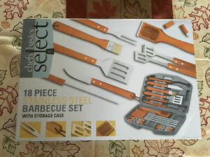 18 piece stainless steel BBQ set