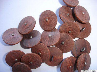 10 Knöpfe  braun Holzstruktur, silberfarben Annähöse 20mm Z51.1