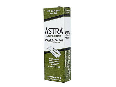 Astra Superior Platinum Double Edge Shaving Razor Blades 100 Pcs Fast Shipping