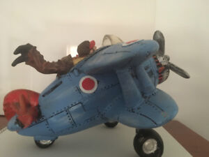 Ceramic Airplane Coin Bank