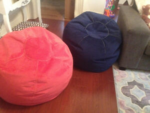 2 Teen Bean Bag Chairs