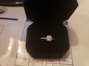 2.00ct SI1 D Diamond Engagement Ring 14K White Gold