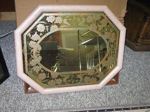 Octagon shape flowered mirror Regina Regina Area image 1