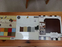 Three Blocks of Cardstock/Scrapbooking paper, like new!