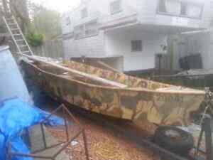 Heavy 16ft steal haul duck boat for sale