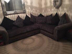 Dfs allessa corner sofa large swivel chair + footstool