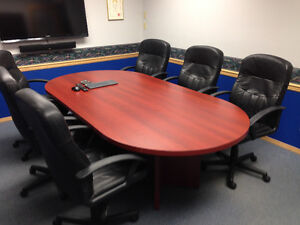 Boardroom Table and Six Chairs
