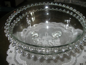 Pr. GORGEOUS HEAVY CRYSTAL IMPERIAL GLASS SERVING BOWLS