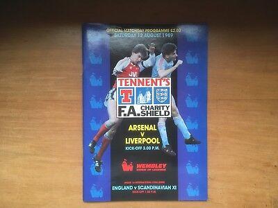 Charity Shield 1989 Arsenal v Liverpool Mint
