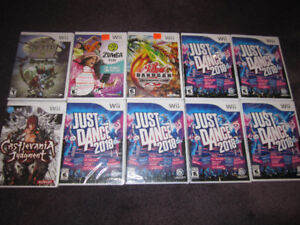 AAA Wii Games - Assorted Games and Accessories - New, Check List