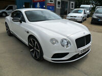 BENTLEY CONTINENTAL GT S V8 MDS 2DR WHITE PETROL