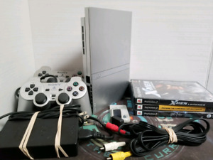 ☆Special edition☆ Silver PlayStation 2 ☆ PS2 GAMES ! L@@k !