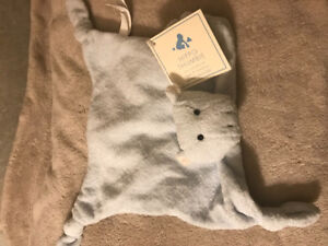 Hippo blue chamois toy BRAND NEW POTTERY BARN