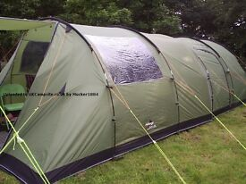 Vango Icarus 500 with awning and footprint
