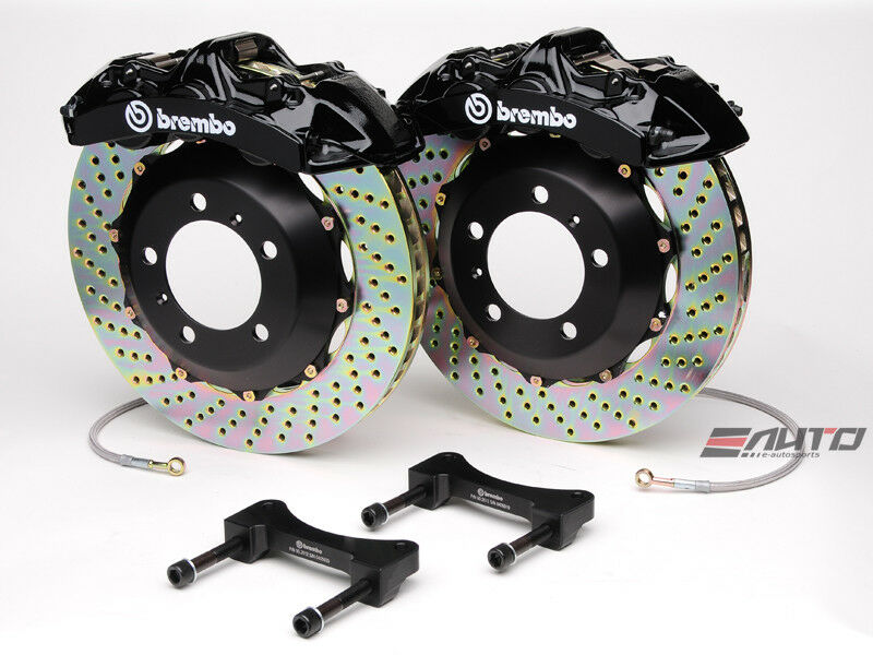 Brembo Front Gt Brake 6pot Black 355x32 Drill Disc Benz W204 C204 C207 A207 W212