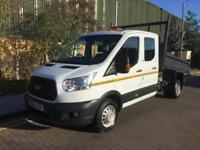 2015 Ford Transit double cab one way tipper 123bhp 2.3 Manual Tipper