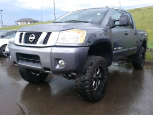 2014 Nissan Titan Pro 4X Lifted Custom Rims Tires Flares