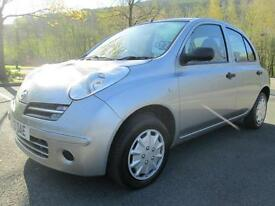 06/55 NISSAN MICRA 1.2S AUTOMATIC 5DR HATCH IN MET SILVER WITH ONLY 78,000 MILES