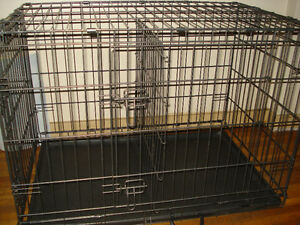 Petco Large Wire Pet Cage / Crate With Divider