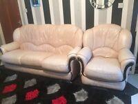 Three Seater Sofa +Arm Chair